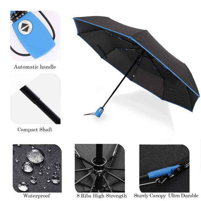 6b82cfcefcab US $10.98 30% OFF|SUSINO Automatic Umbrella 190T Canopy Metal Shaft  Fiberglass Rid Windproof Umbrellas RV,Car,Motobike Travel Umbrella-in  Umbrellas ...
