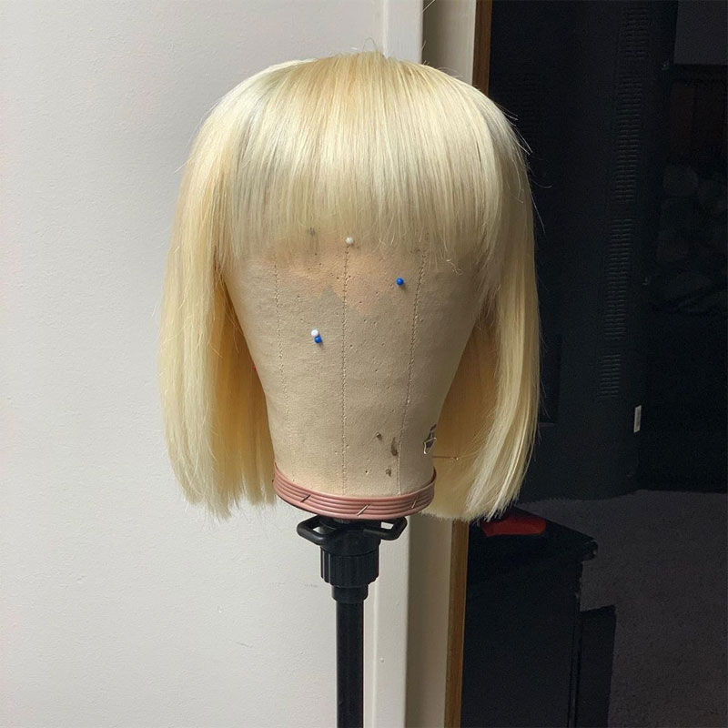 Image 3 - 613 Straight Blonde Bob Lace Front Wigs Brazilian Short Pixie Cut Lace Front Human Hair Wigs With Bangs For Black Women Remy-in Human Hair Lace Wigs from Hair Extensions & Wigs