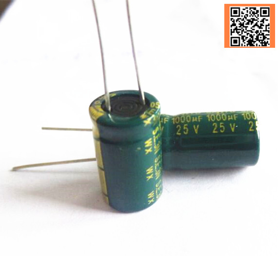 Best quality P64 25V 1000UF Low ESR Impedance high frequency aluminum electrolytic capacitor size 10 13MM