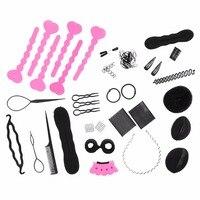 Lisli 20 stuks/partij Lady Styling Base Accessoire Haar Ontwerp Styling Accessoire Maker Pads Haarspelden Clip Donut Tool Kit 03S0040
