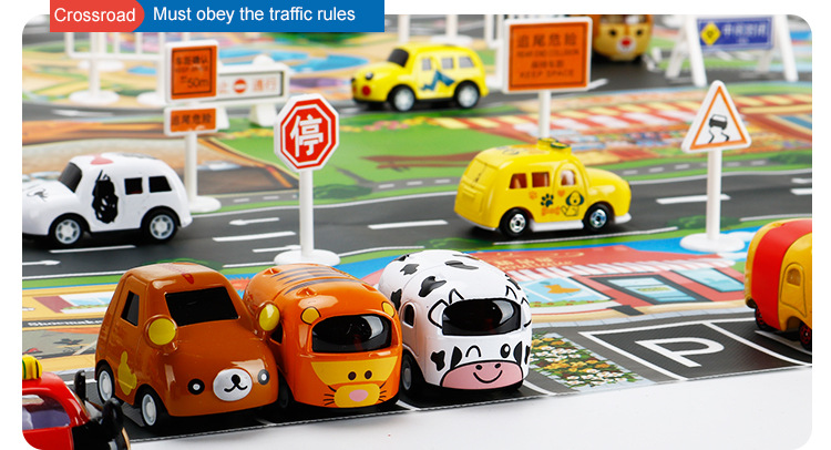 HTB1euBqieOSBuNjy0Fdq6zDnVXa0 39Pcs City Map Car Toys Model Crawling Mat Game Pad for Children Interactive Play House Toys (28Pc Road Sign+10Pc Car+1Pc Map)