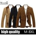 New Autumn Men's Suit Jacket Men Blazer Cultivating Cotton Men's Leisure Causal Blazer Suits Tide Blazer Big Size
