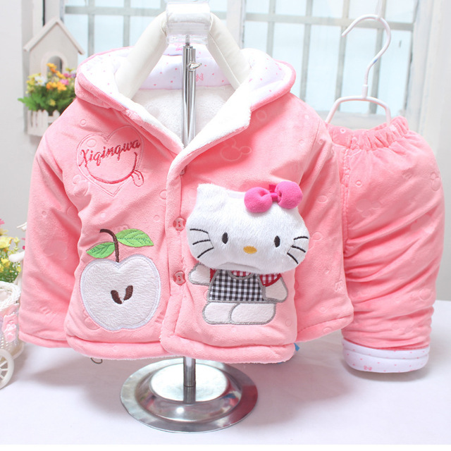 b7d2b38c6497 6 8 9 12 months female in infants baby cartoon cotton suits fall and ...