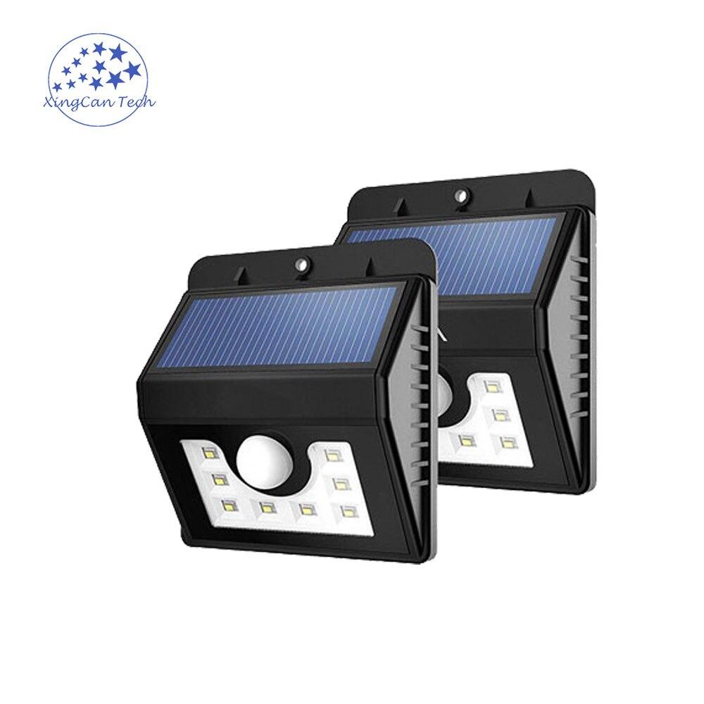 New Type Led Solar Sensor Light 8 Leds Outdoor Wireless