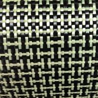 1100D 3K 160gsm I Weave Yellow Kevlar Carbon Fiber Mixed Fabric Plain Carbon Kevlar Cloth