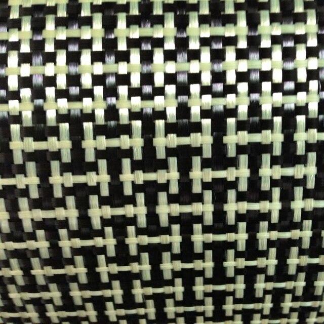 1100D / 3K 200gsm I Del Tessuto Giallo Kevlar e fibra di Carbonio misto Tessuto Tinta Unita Hybrid Carbon Kevlar Panno
