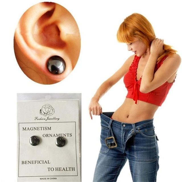 Healthy Stimulating Acupoints Stud Earring Bio Magnetic Therapy Weight Loss Earrings Magnet In Ear Eyesight Slimming