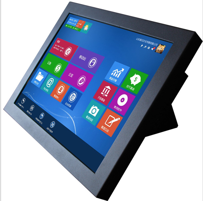 Touch Screen All-in-one Computer 15 Inch Fanless Industrial Touch Pc With 2 Intel LAN Intel Core I5 4200U With SIM