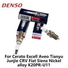 4pieces/set DENSO Car Spark Plug For Cerato Excell Aveo Tianyu Junjie CRV Fiat Siena Nickel alloy K20PR-U11