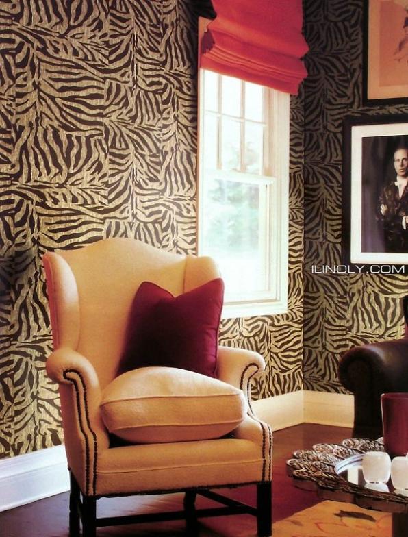 ФОТО Wallpaper papel parede zebra-stripe faux leather pvc  leopard print  sofa background tv wall free shipping 53cm(width)