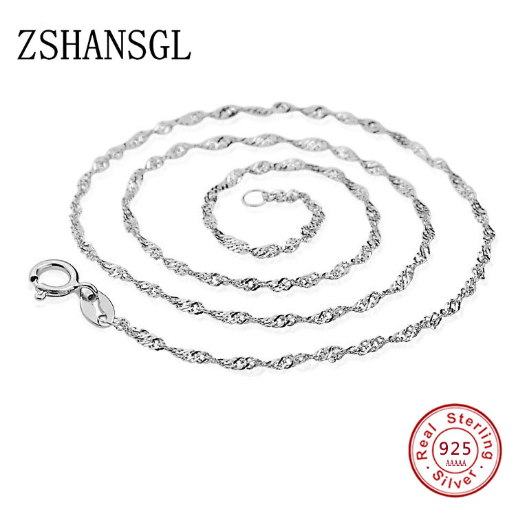Hot Sale 100% 925 Sterling Silver Infinity Forever Love Basic Chain O Shaped Adjustable Necklaces for Women Fine Jewelry