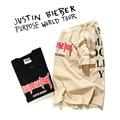 2017 Propósito Tour T Shirt Das Mulheres Dos Homens 1:1 Temor De Deus Tshirt Santo Pablo Kanye West Justin Bieber Hip Hop Harajuku Masculino camisetas
