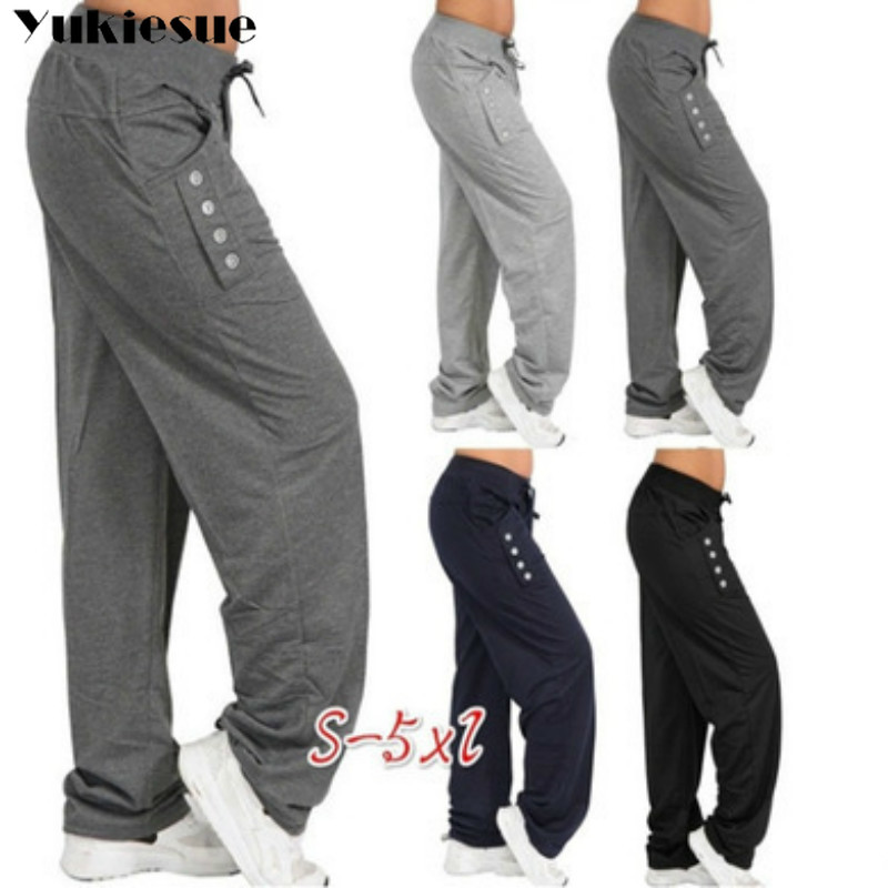 high waist harem   pants     capris   women loose sweatpants 2019 summer spring long   pants   womens trousers female Plus size black gray