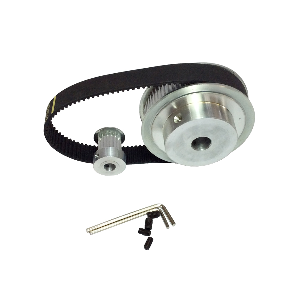 HTD 3M Timing Belt Pulley Kit Big Wheel 60 Teeth and Small Wheel 16 ...