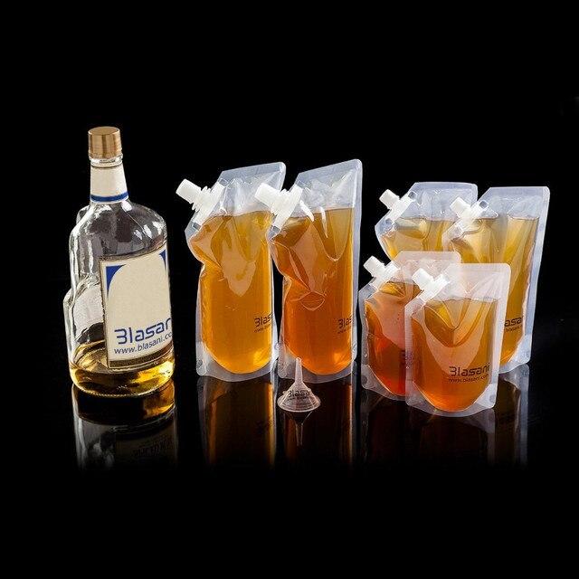 12 Pieces Lot 500ml 16oz Soft Clear Plastic Drink Flask Water Bag Liquid