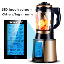 Licuadora de alimentos multifunción con pantalla táctil, mezclador de alimentos superpotente, triturador de hielo, pantalla LED en inglés, chino, 220V, 48000RPM