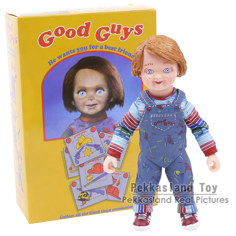 NECA Childs Play Ultimate Chucky PVC Action Figure Collectible Model Toy 10CM neca epic marvel deadpool ultimate collectible 1 4 scale action figure model toy 16 45cm ems free shipping