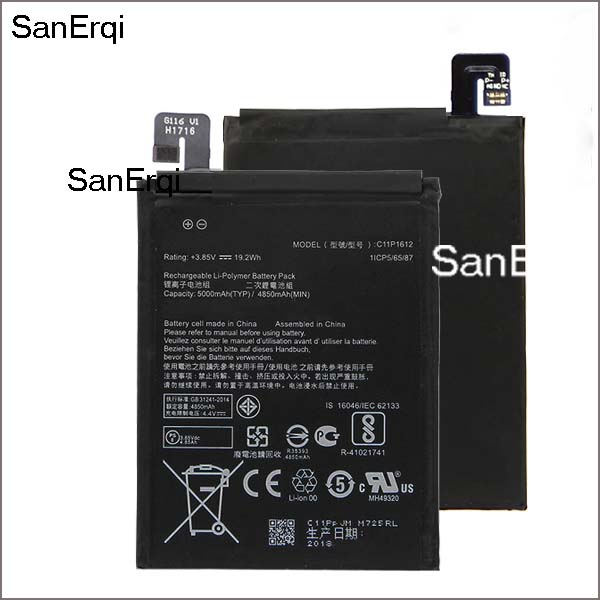 High Capacity C11P1612 Battery For ASUS ZE553KL ZenFone 3 Dual Z01HDA SIM LTE Zoom S 5000mAh C11P1612 Battery image
