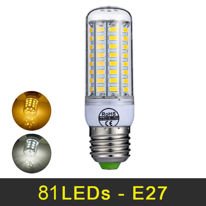 E27 LED Bulb 81LEDs E14 LED Lamp 220V 240V SMD 5730 Smart IC Lamps Warm White Cold White Corn Bulb No Flicker Home Decor Lights