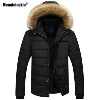 Mountainskin New Winter Men\'s Coats Male Parkas Casual Thick Outwear Fleece Jackets Warm Overcoats Mens Brand Clothing 6XL SA546