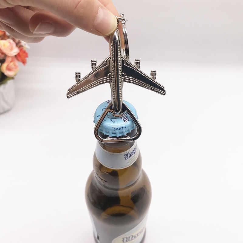 Máy bay Chai Opener Keychain Ủng Hộ Ủng Hộ Đám Cưới Mở Chai Tùy Chỉnh Bên Ủng Hộ Bia Mở Chai TỰ LÀM Trang Trí Nội Thất