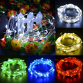 10M 100LED LED Copper Wire Strip String Light Lamp For Wedding Party EU Garden Decoration
