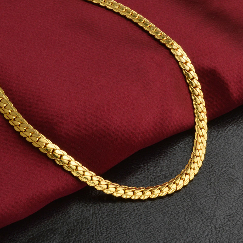Vintage Long Gold Chain For Men Hip Hop Chain Necklace 5MM Gold ...
