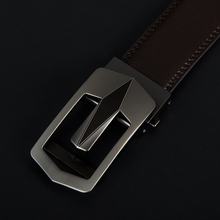 Vintage Cow Leather Men Ratchet Buckle Belt