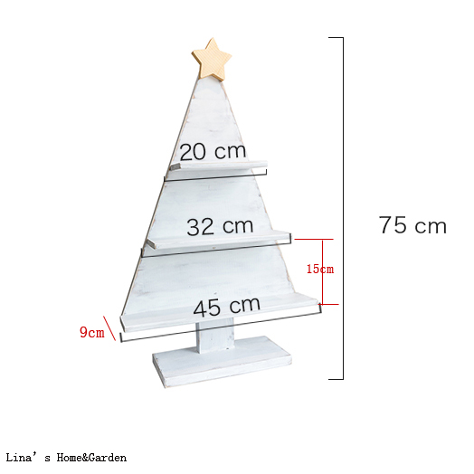 Us 38 63 Free Stand Shabby White Handmade Solid Wood Christmas Tree Shelf In Storage Holders Racks From Home Garden On Aliexpress Com Alibaba