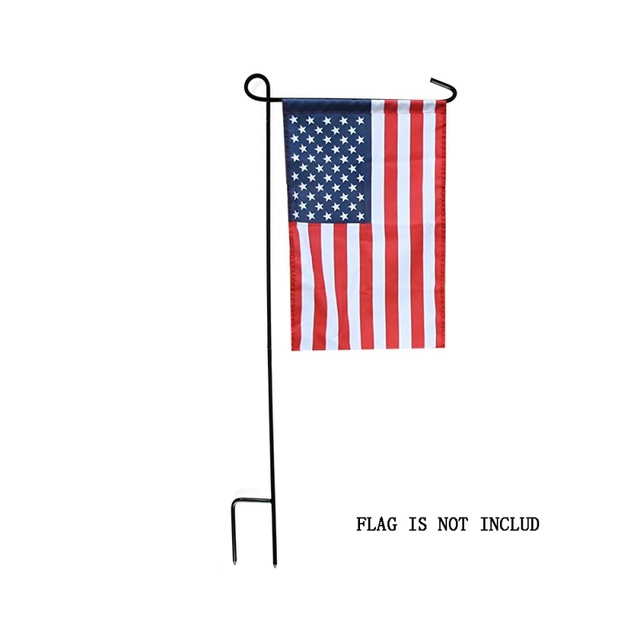 New Garden Flags Pole Mini Iron Flag Stand Holder For Yard Decorative  Display Pole Flying Metal