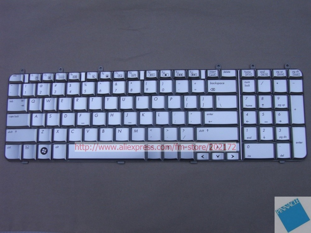 Brand New Silver Laptop  Notebook Keyboard 506120-001 PK1303W0100 For  HP Pavilion dv7 us layout laptop keyboard for acer silver without frame bulgaria bu v 121646ck2 bg aezqs100110