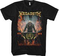 MEGADETH Nuevo Orden Mundial camisa S M l XL XXL metal Band camiseta oficial