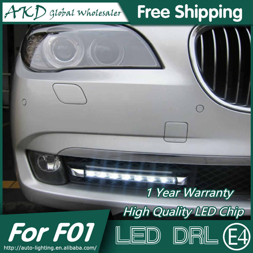 AKD Car Styling LED Fog Lamp for BMW F01 F02 DRL 2010-2012 730i LED Daytime Running Light Fog Light Parking Signal Accessories hot sale abs chromed front behind fog lamp cover 2pcs set car accessories for volkswagen vw tiguan 2010 2011 2012 2013