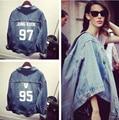 Bts Bangtan kpop crianças roupas buraco denim casaco jaqueta feminina de beisebol k-pop bulletproof BTS exo moletom com capuz tops Outerwears