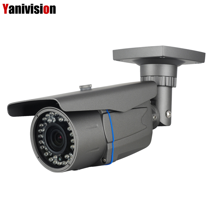2.8 12mm zoom 4X IP Camera ONVIF Waterproof Outdoor IR CUT 40 60m Night Vision P2P 5MP 1080P H.265 IP Camera POE Surveillance-in Surveillance Cameras from Security & Protection