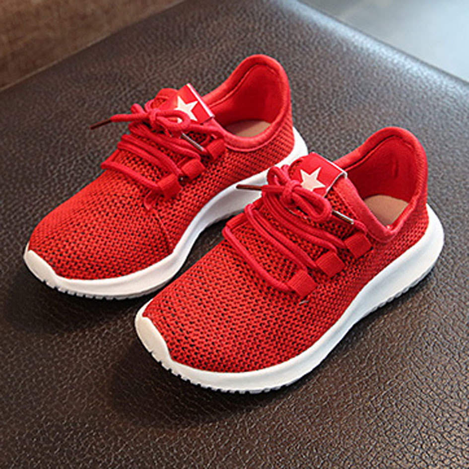 Kids Breathable Sneakers Children Slip On Sport Shoes Baby Infant Shoes