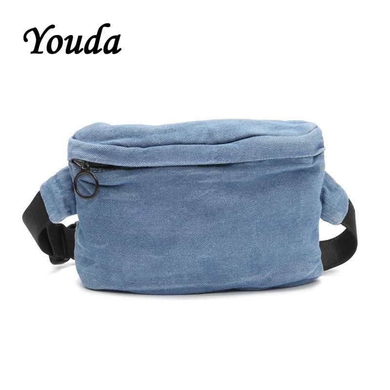 Youda Unisex Vintage Denim Brust Taschen Kleine Vintage Umhängetasche Handy Tasche Einfache Stil Kopfhörer Lagerung Beutel