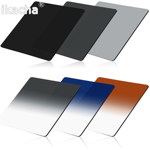 Image 2 - Complete ND 2 4 8 + Gradual ND4 Blue Orange Filter 49 52 55 58 62 67 72 77 82mm Kit for Cokin P Set SLR DSLR Camera Lens