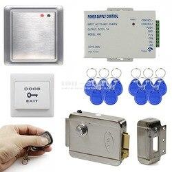 DIYSECUR pełna Kit zestaw elektryczne blokada wodoodporna pilot zdalnego sterowania 125 KHz czytnik dowodów RFID zestaw systemu kontroli dostępu do 81678A w Zestawy do kontroli dostępu od Bezpieczeństwo i ochrona na