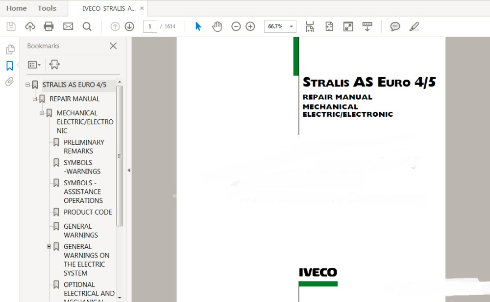 Stralis As Euro 45 Service Repair Manual In Software From