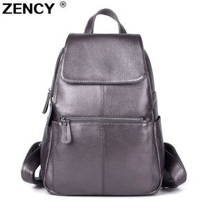 ZENCY Genuine Leather Women Female Cow Leather Backpacks