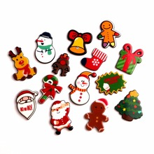 LF 20Pcs Acrylic Christmas Decoration Crafts Flatback Cabochon Embellishments For Scrapbooking Kawaii Cute Diy Accessories