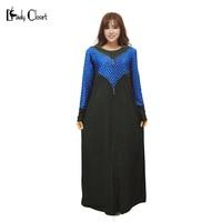 Yeni tasarım Kadınlar Abaya Müslüman dantel Elbise İslam türk türban Giyim Jilbabs ve abayas Robe Musulmane Diamonds Elbise Siyah