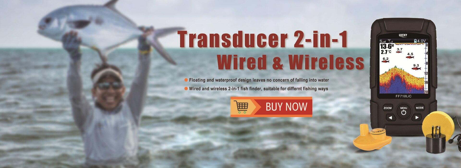 dwireless água peixe finder monitor sem fio