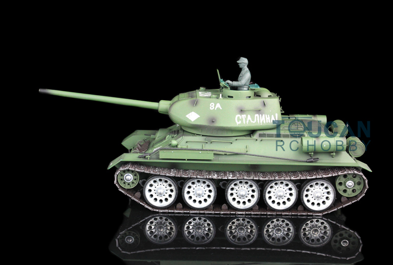 2.4Ghz HengLong 1/16 Scale Soviet <font><b>T34</b></font>-85 RTR RC <font><b>Tank</b></font> Metal Tracks Sprockets Idlers Road Wheels 3909 TH00138 image