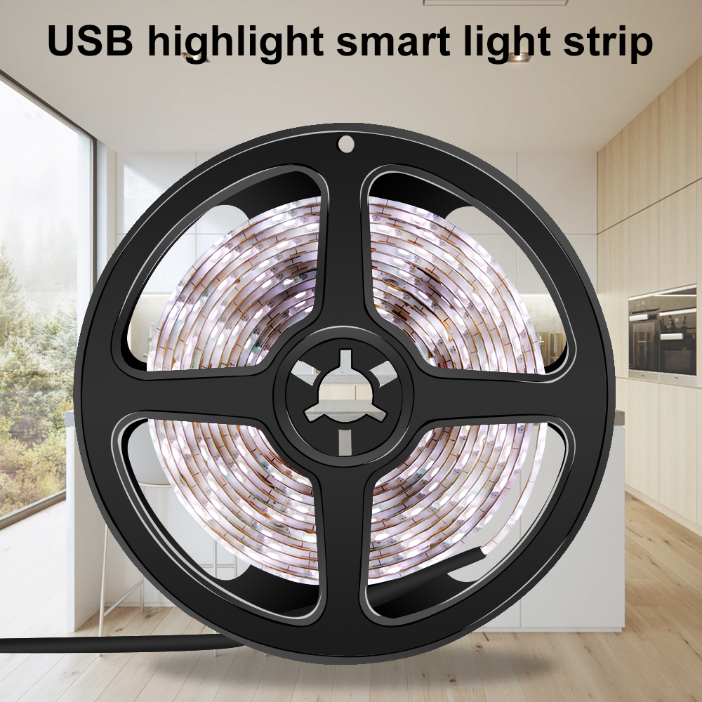 USB LED Strip Light 2835SMD Waterproof 5V Flexible Fita LED Wall Light Tape 1M 2M 3M 4M 5M TV Screen Background Bathroom Light