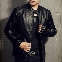 2017 New Fashion Motorcycle Biker Leather Jacket Men Casual Male Business Moto Coats Business PU Leather Bomber Vintage Jacket