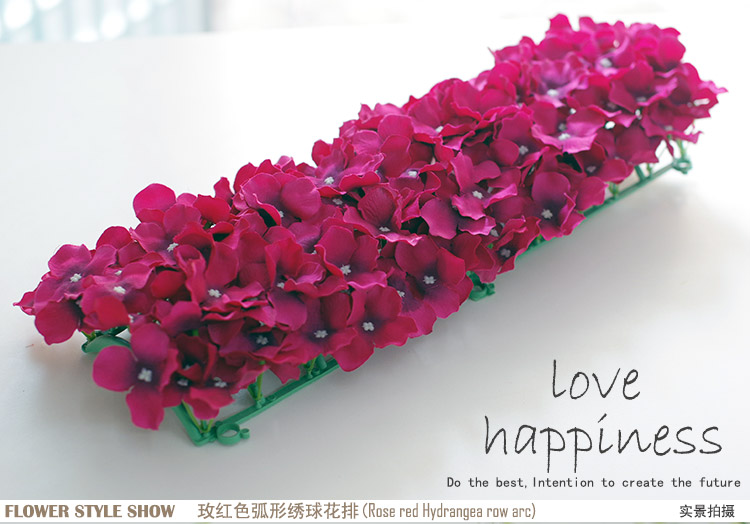 Künstliche Hydragea Blumengirlanden 10 Stücke 50 * 20 cm - Partyartikel und Dekoration - Foto 4