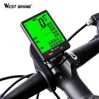 OESTE Ciclismo Velocímetro 2.8 ''Gran Pantalla A Prueba de agua 20 Funciones Inalámbricas y Por Cable Bicicleta Odómetro Ordenador De Bicicleta