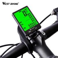 WEST BIKING Bicycle Speedometer 2 8 Large Screen Waterproof 20 Functions Wired Wireless Stopwatch Odometer Bicycle